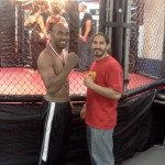Outside the cage with Saul after winning his first MMA fight! 8/28/11