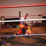 """Shot of the night from the latest M1W """"Friday Fight Night"""" show. If The Dynasty & The Super Smash Brothers can pull off this match of the night, then The Young Bucks & The RockNES Monsters are going to have their hands full tomorrow night in Reseda."""