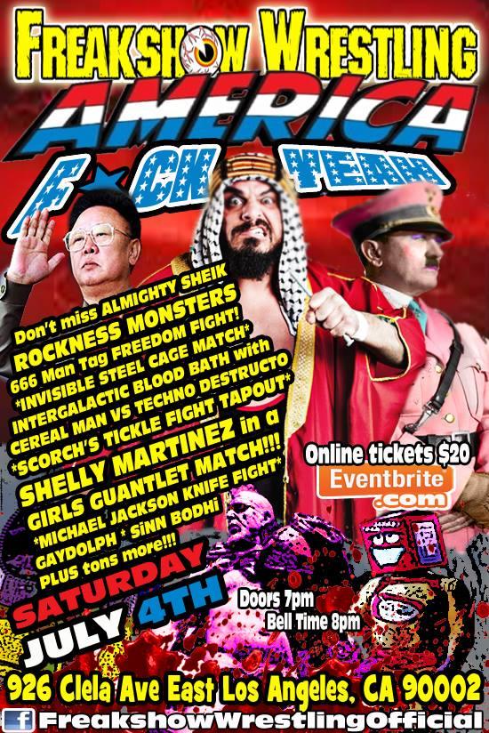 Freakshow 7-4-15 flyer