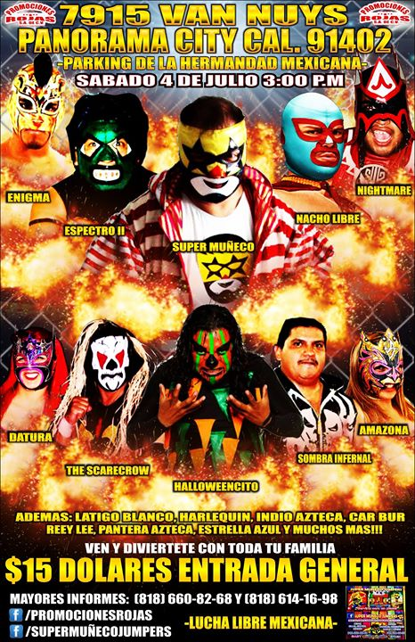 Lucha Libre Event 7-4-15 flyer