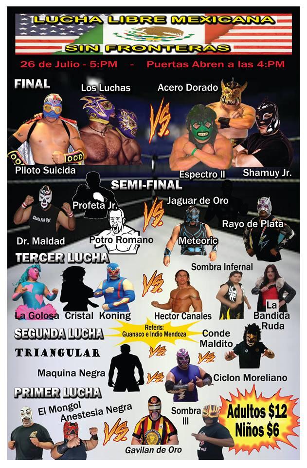 Lucha Libre 7-26-15 flyer