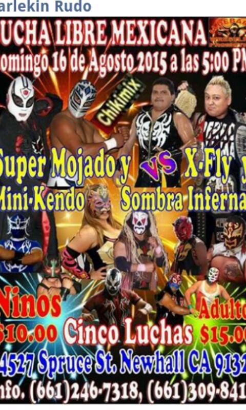 Lucha Libre 8-16-15 flyer