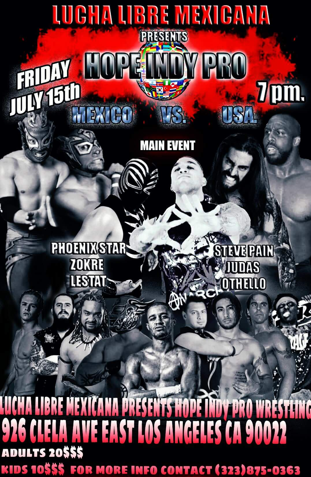 Lucha Libre Mexicana presents Hope Indy Pro in East Los ...
